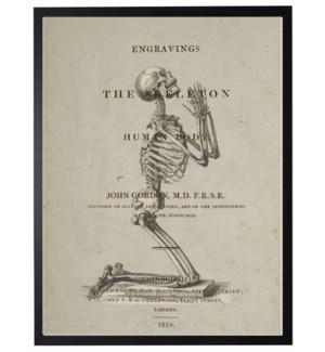 Praying skeleton poster