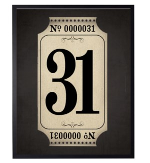 31 Poster on black background