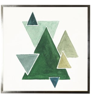 Watercolor abstract triangles
