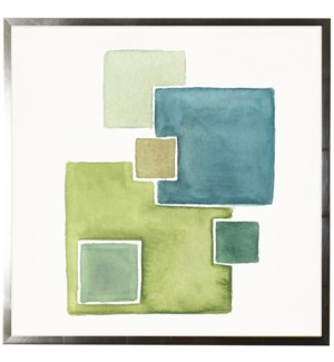 Watercolor abstract squares