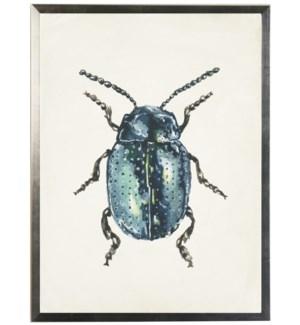 Watercolor blue bug