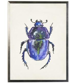 Watercolor purple bug