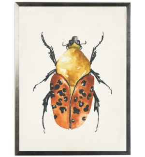 Watercolor orange and yellow bug