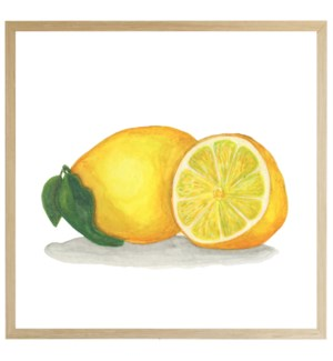 Watercolor Lemon on bright background