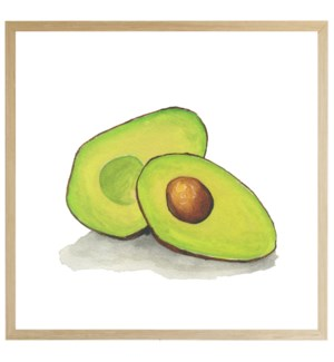 Watercolor Avocado on bright background