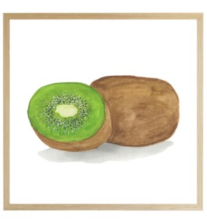 Watercolor Kiwi on bright background