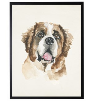 Watercolor Saint Bernard