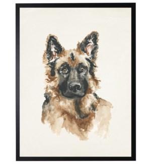 Watercolor German Shepherd
