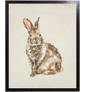 Watercolor woodland rabbit