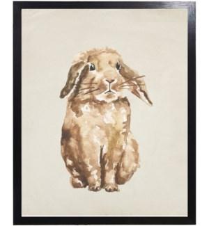 Watercolor woodland bunny