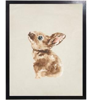 Watercolor woodland baby bunny