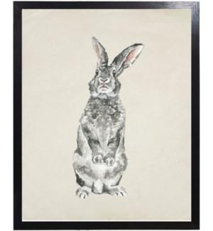 Watercolor woodland jack rabbit