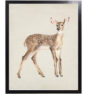 Watercolor woodland deer