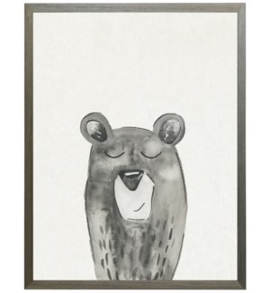 Watercolor Black and white Bear