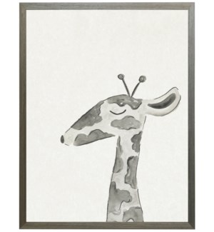 Watercolor Black and white giraffe