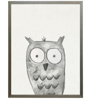 Watercolor Black and white owl