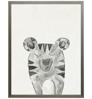Watercolor Black and white tiger