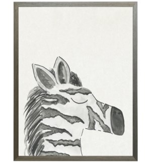 Watercolor Black and white zebra