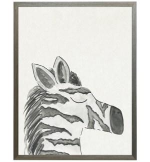 Watercolor Black and white zebra