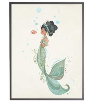 Mermaid with orange fish