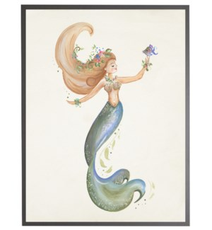 Mermaid with purple fish