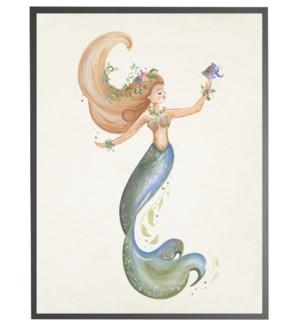 Mermaid with purple fish