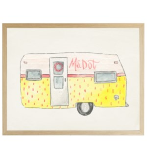 Watercolor Miss Dot Camper