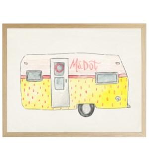 Watercolor Miss Dot Camper