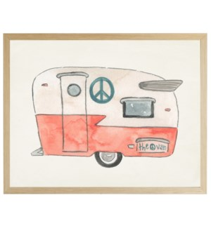 Watercolor Peace Camper