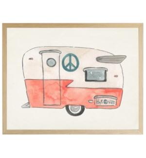 Watercolor Peace Camper