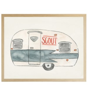 Watercolor Scout Camper