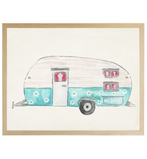 Watercolor Miss Daisy Camper