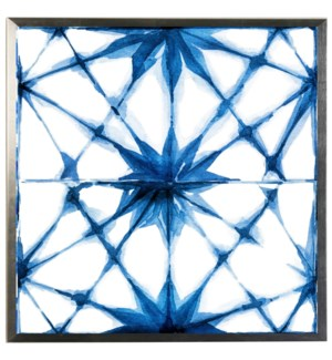 Blue watercolor Geometric F