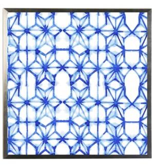 Blue watercolor Geometric G