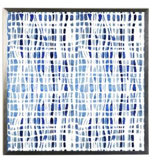 Blue watercolor Geometric H
