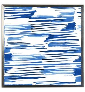 Blue watercolor Geometric I