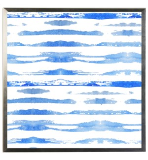 Blue watercolor Geometric J