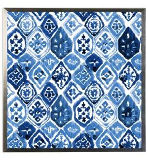 Blue watercolor Geometric K