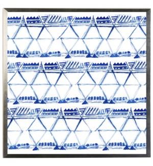 Blue watercolor Geometric L