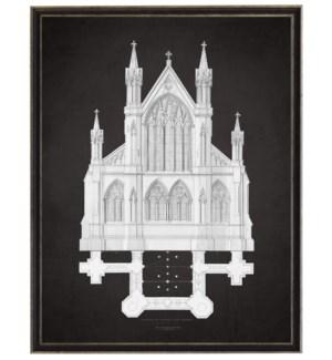Church A grey on black background