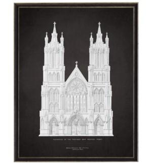 Church C grey on black background