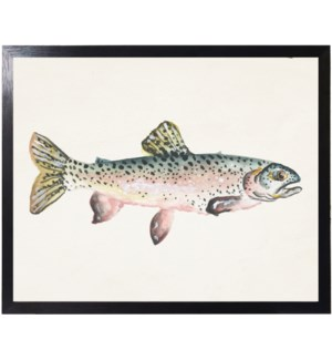 Watercolor camping Fish C