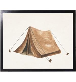 Watercolor camping tent
