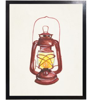 Watercolor camping lantern