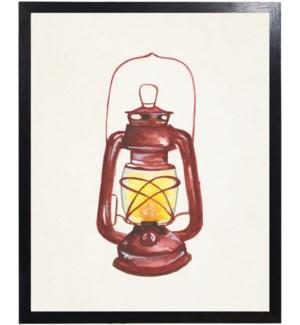 Watercolor camping lantern