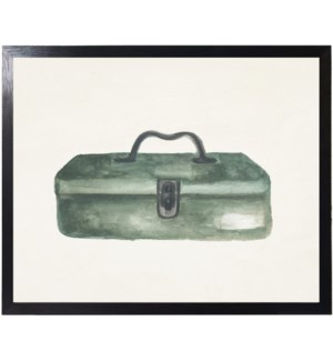 Watercolor camping tackle box