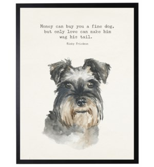 Watercolor Terrier with F Money can buy quote