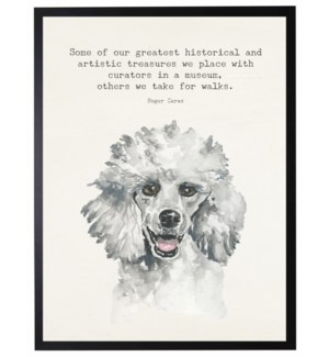 Watercolor Poodle with Some of the greatest quote