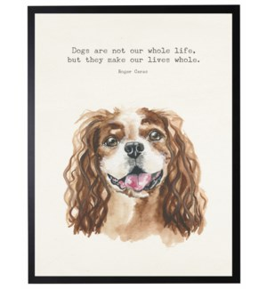 Watercolor King Charles Spaniel with Dogs are not quote