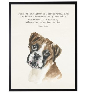 Watercolor Boxer with Some of our greatest quote